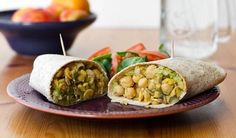 Chickpea Salad Wraps #wildrose (no pickle or mustard and with lettuce wrap, not tortilla)