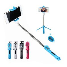Bluetooth 3 in 1 Selfie Stick + Tripod + Shutter Wireless Self-timer Monopod For Mobile Phone
