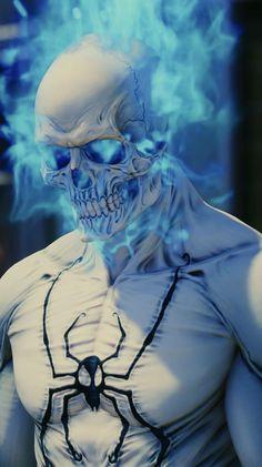 Black Spiderman, Spiderman Art, Amazing Spiderman, Iron Man Hd Wallpaper, Ghost Rider Wallpaper, Comic Kunst, Comic Art, Deadpool Art, Tiger Tattoo
