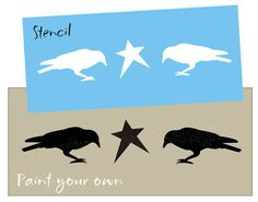 Free Primitive Star Stencil | Stencil Country Primitive Crows Barn Star for Blocks