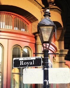 New Orleans Art Royal Street Sign Photograph 8x10 Print by Briole, $30.00