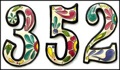 4 House Numbers  4 1/2 Hand Painted Metal Address by TropicAccents, $31.80