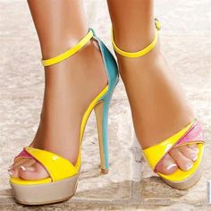 Awesome Neon Heels
