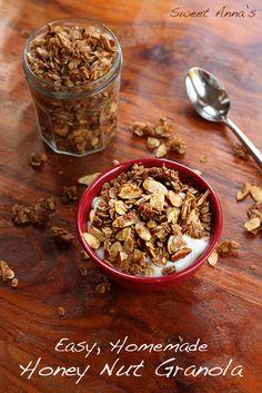 spiced honey nut granola, make without pumpkin pie spice