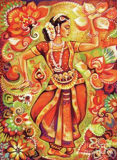 Ganges Flower Painting by Eva Campbell