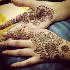 Latest Bridal Henna Designs for Hands