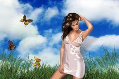 Girl, Butterfly, Handling, 