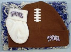The kick is good! with our TCU Horned Frogs Fieldgoal Gift set from Future Tailgater by DHM Kids, $16.99