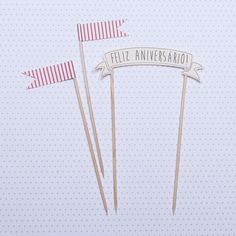 Cake Topper Happy Birthday Red - Little Paper Boutique Paper