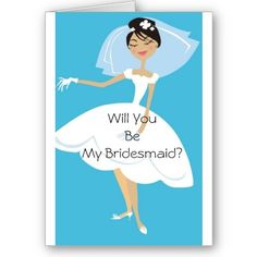 Will You Be My Bridesmaid Bridal Accessory Greeting Card