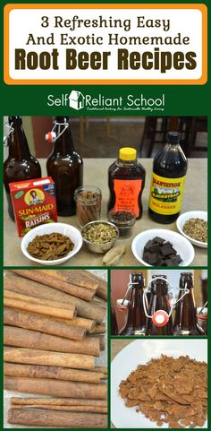 Easy recipes for homemade root beer using a variety of old and new ingredients. #beselfreliant via @sreliantschool
