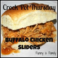 Crock Pot Thursday: Buffalo Chicken Sliders