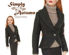 Sewing pattern for 16 inch fashion dolls: Dressed to Impress Suit