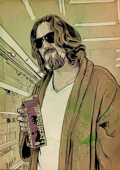 pinterest.com/fra411 #illustration - The Dude Lebowski by Giuseppe Cristiano http://giuseppecristiano.tumblr.com/