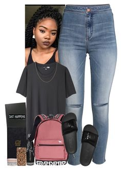 """""""Back to school I guess """" by jemilaa ❤ liked on Polyvore featuring Nomadic, H&M, Acne Studios, Victoria's Secret, Felony Case and Korres"""