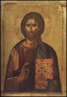 The Temple Gallery - specialists in Russian icons Images Of Christ, Religious Images, Religious Icons, Byzantine Icons, Byzantine Art, Russian Icons, Russian Art, Christ Pantocrator, Christ The King