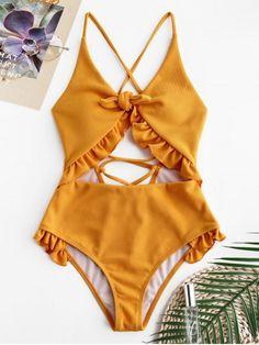2020 Women Swimsuits Bikini Small Swimsuits Flutter Sleeve One Piece Swimsuit Pink Knickers Pants Swimwear Cut Out Swimsuits, Cute Swimsuits, Women Swimsuits, Orange Swimsuit, Ruffle Swimsuit, Bikini Swimsuit, Summer Bathing Suits, Cute Bathing Suits, Outfit Chic