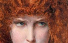 """moerae:  """"Helen of Troy (detail, 1867) Frederick Sandys  """""""