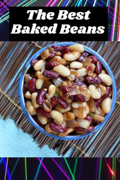 Best Baked Beans recipe from RecipeGirl.com #best #baked #beans #recipe #RecipeGirl Best Baked Beans, Baked Bean Recipes, Dinner Dishes, Side Dishes, Recipe Girl, Black Eyed Peas, Sweet And Spicy, The Best, Favorite Recipes