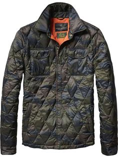 I'm conflicted about this jacket; I like it, but I'm also not crazy about the semi camouflage pattern - Nylon Shirt Jacket by Scotch & Soda