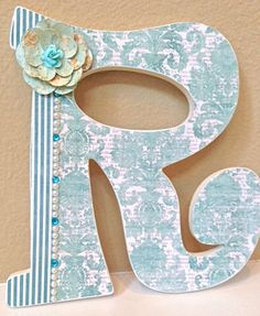Custom Nursery Letters  Baby Girl Nursery Decor by TheRuggedPearl