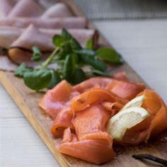 The Salmon is a bit extravagant, if the budget does not allow, leave it off and serve only the ham. Best to buy fresh, thinly sliced ham from a good deli. Sliced Ham, Allrecipes, Cantaloupe, Salmon, Curry, Brunch, Fish, Fruit, Platter
