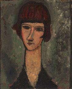 Amedeo Modigliani Italian, 1884-1920  Portrait of a Woman, c. 1917-19. Art Institute Chicago   par renzodionigi