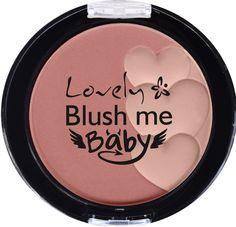 Lovely, róż do policzków Blush me Baby o perfekcyjnie matowym wykończeniu. Kompozycja dwóch odcieni. Efekt: promiennie wyglądająca skóra muśnięta zdrowym rumieńcem.