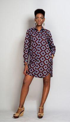 Tunique (chemise manches longue) en pagne : Chemises, blouses par openya-couture