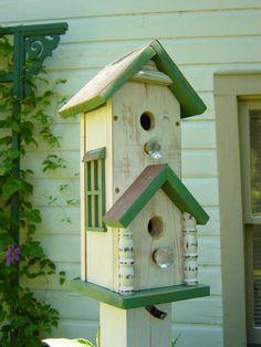 double birdhouse