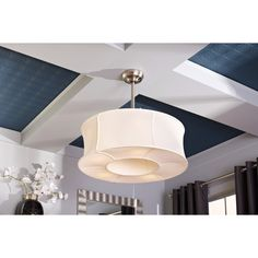 Shop allen + roth 30-in Sun Valley Brushed Nickel Ceiling Fan with Light Kit and Remote at Lowes.com