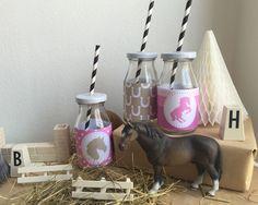 Pferdegeburtstag Flaschen-Ettiketten