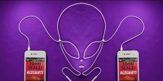Креативная реклама для сайта аудио-книг Audible.com. Книжные герои из шнуров наушников, постеры, баннеры. 8 фото