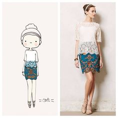 Anthropologie Elysian Lace Top. catplusmouse
