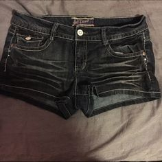 Wallflower Jean Shorts Size 11 junior denim shorts are perfect for summer at the beach/lake. they are like new. they have been worn a couple of times, but outgrew them. no trades. price is negotiable. if you have any questions, just ask! WallFlower Shorts Jean Shorts