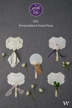 diy personalized hand fans - print program on one side