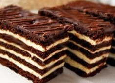 Hungarian Recipes, Russian Recipes, Baking Recipes, Cake Recipes, Delicious Desserts, Yummy Food, Fudge Cake, Sweet Cakes, Diy Food