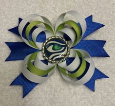 Seattle Seahawks Hair Clip by SimpleFunCreations on Etsy, $7.00