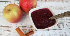 Try this simple and sweet beet applesauce. Enjoy as a snack, drizzle on pancakes for breakfast, or use on desserts for a yummy treat. This sauce makes a great topping or filling for Halloween recipes. Apple Recipes, Holiday Recipes, Whole Food Recipes, Snack Recipes, Diet Recipes, Vegan Recipes, Heart Healthy Breakfast, Heart Healthy Desserts, Vegan Breakfast