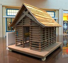 Japanese Playhouse | Dallas Architect Bob Borson {horizontal boards at screened porch}
