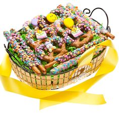 Find Happy Birthday Pretzel Giftbasket with quantity discounts here, along with other wedding favors and shower gifts. Send Gift Basket, Cookie Gift Baskets, Gourmet Gift Baskets, Gourmet Gifts, Cookie Gifts, Edible Favors, Edible Wedding Favors, Birthday Favors, Girl Birthday