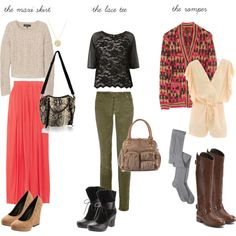 summer to winter - transitional outfits