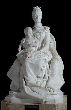 La reina regente María Cristina y su hijo, el rey Alfonso XIII