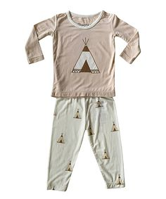 Another great find on #zulily! Bestaroo Tan Tepee Top & Pants - Infant by Bestaroo #zulilyfinds
