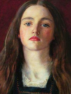 John Everett Millais. Sophie Gray, 1857. Oil on paper. Legion of Honor, SF