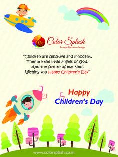 Color Splash: Top Web & Graphic Design Company in Delhi Happy Children's Day, Happy Kids, Are You Happy, Graphic Design Company, Catalog Design, Best Web Design, Child Day, Joy And Happiness, Color Splash