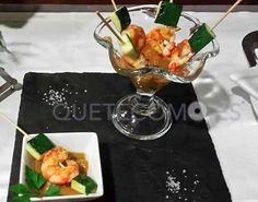 Brocheta de gambas con calabacín | Restaurante tapería Vilarosa en Cedeira, Redondela (Pontevedra)