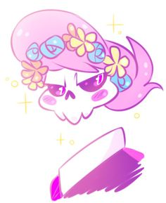 Ghost Lewis with a flower crown! >\\\<