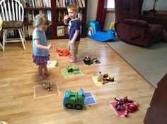 6 Great ideas for teaching toddler's their colors all using the same set up!