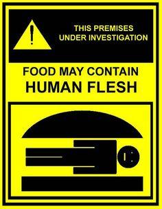 Food May Contain Human Flesh Bob S Burgers